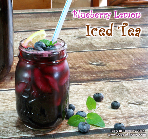 Blueberry lemon iced tea