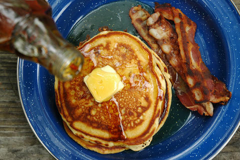 Campfire beer pancakes