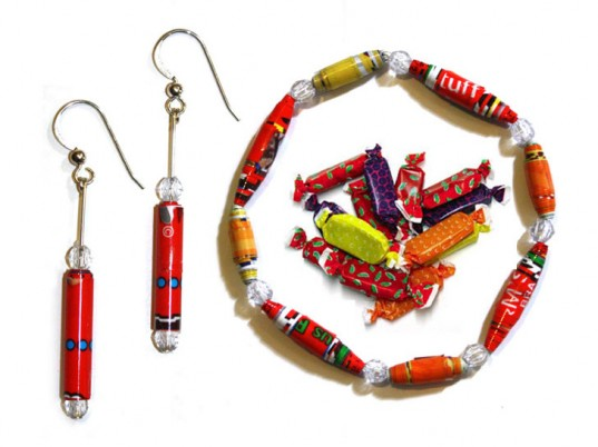 Candy wrapper beads