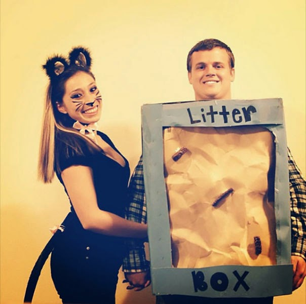 Cat kitty litter diy costume