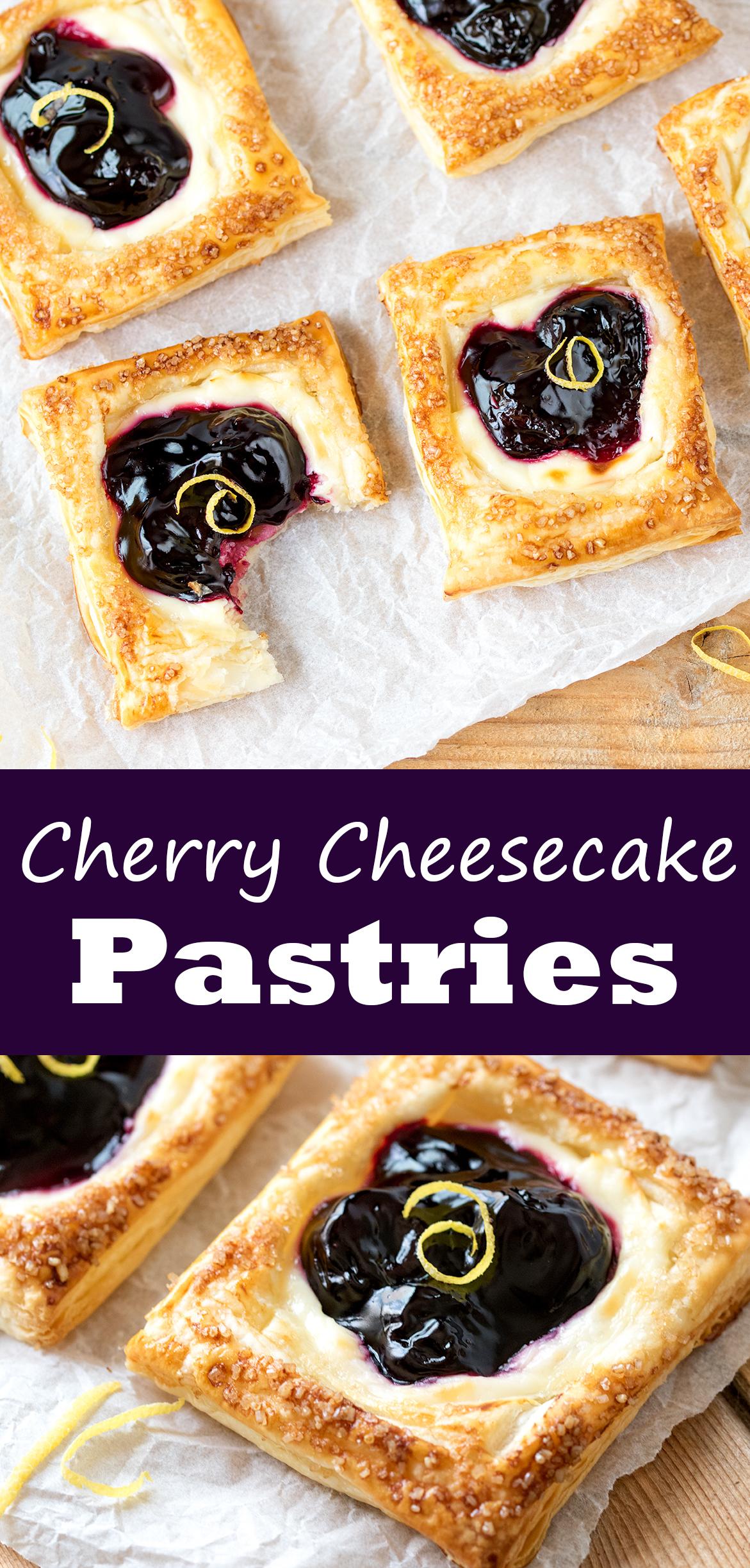 Cherry cheesecake pastries pinterest