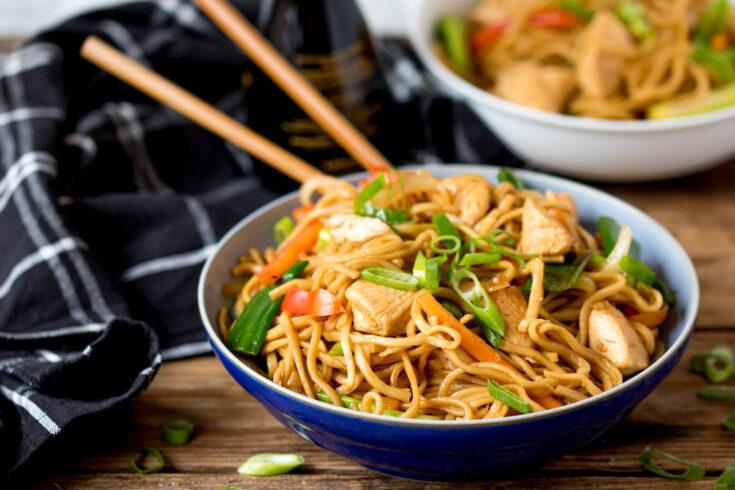 Easy Chicken Chow Mein!