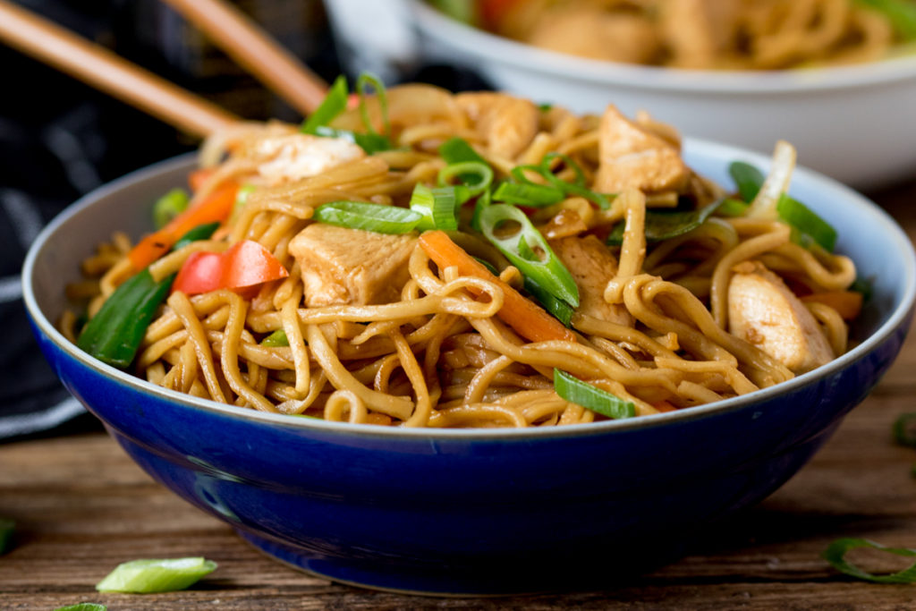 Easy Chicken Chow Mein!