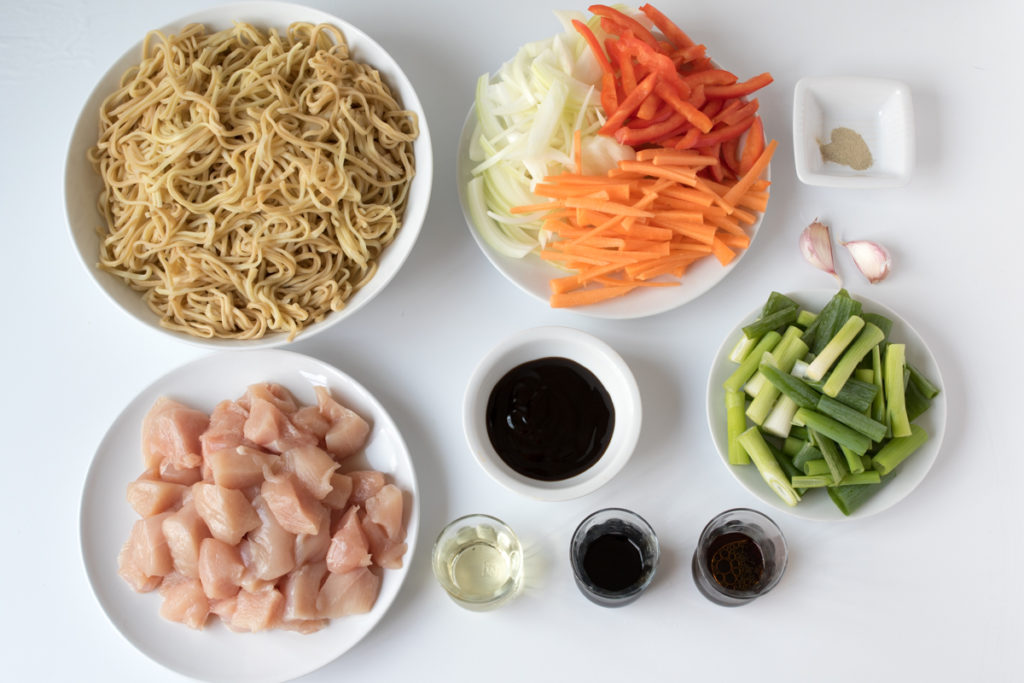 Chicken chow mein ingredients