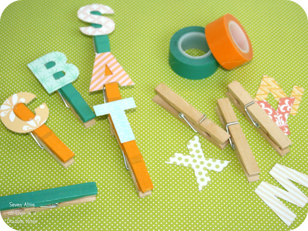 Clip on letters