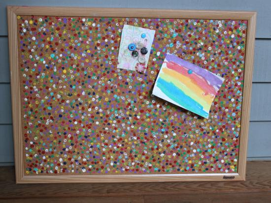Crafting with cork board for Cork board pin display