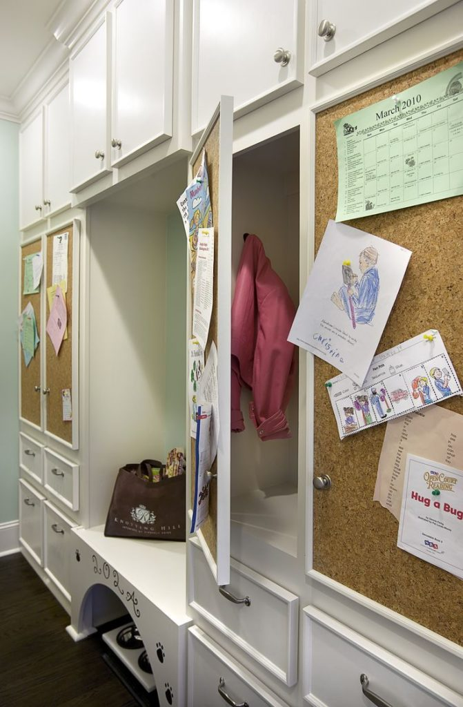 Cork board cupboard doors