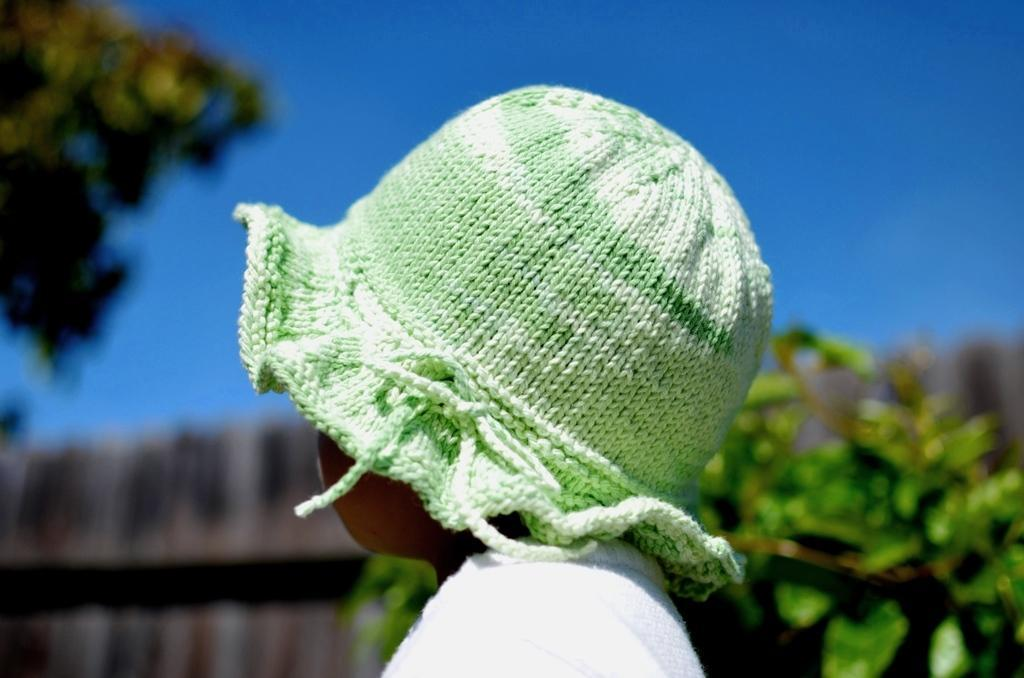 Cotton sun hat by christy hill's designs