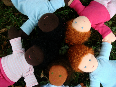 Cotton and wool dolls