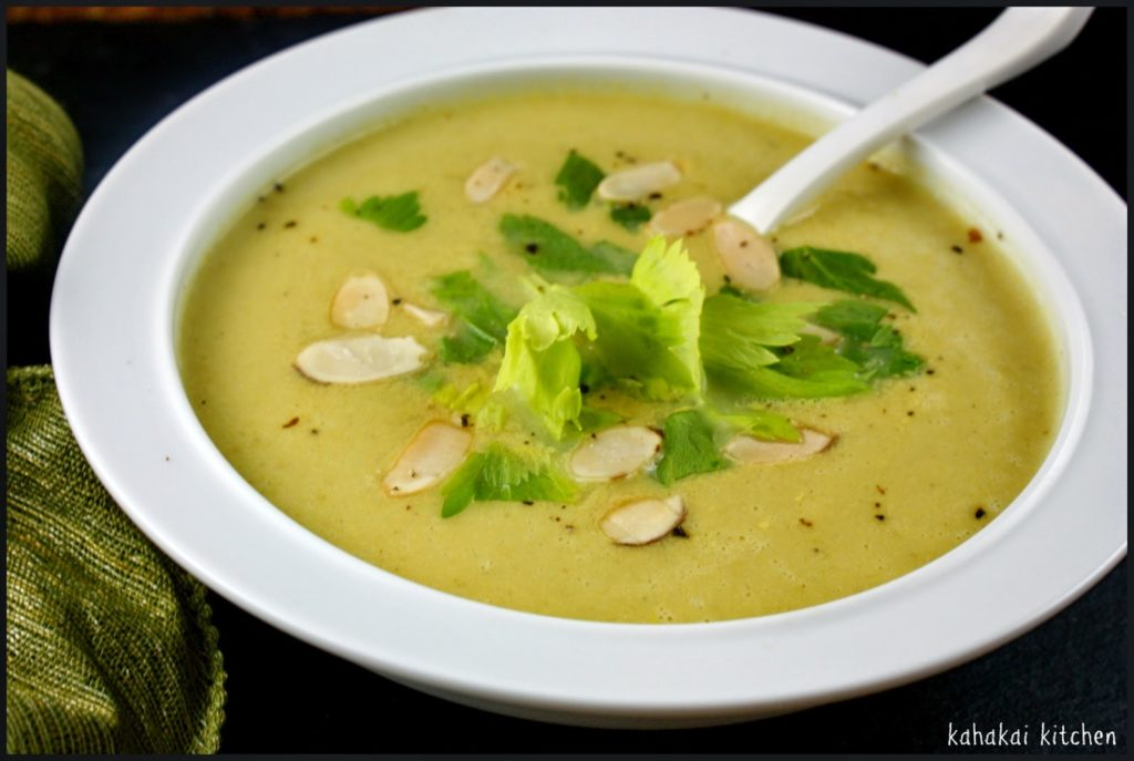 Curried cream of celery soup