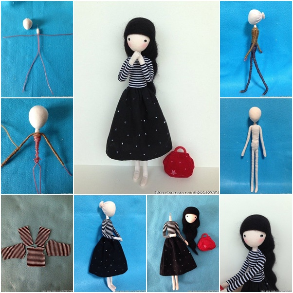 Cute mini doll with wire