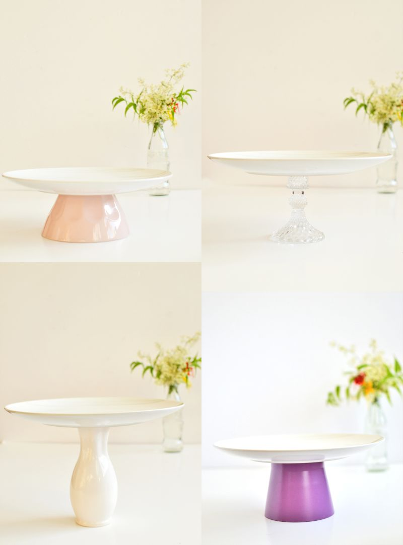 Diy cake stand from planter septs