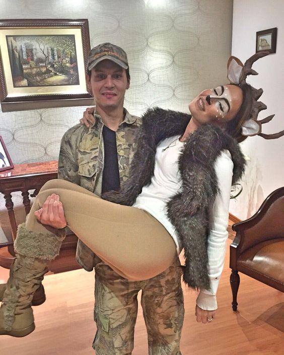 Deer & Hunter Couples Halloween Costumes