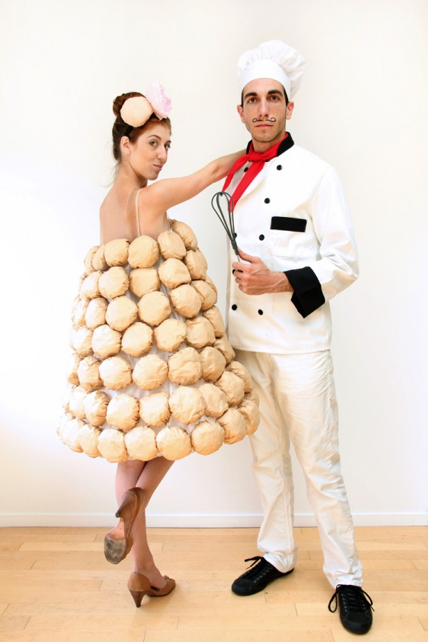 50 of the most creative couples costumes for all events diy french chef and croquembouche costume1 600x899 solutioingenieria Images