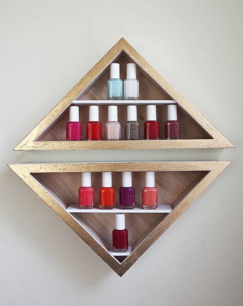 Diy nail polish shelves