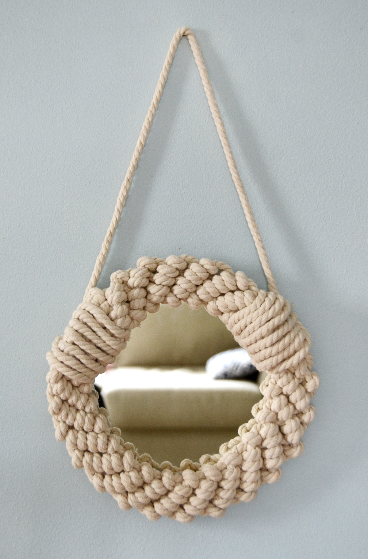 Diy rope mirror 10