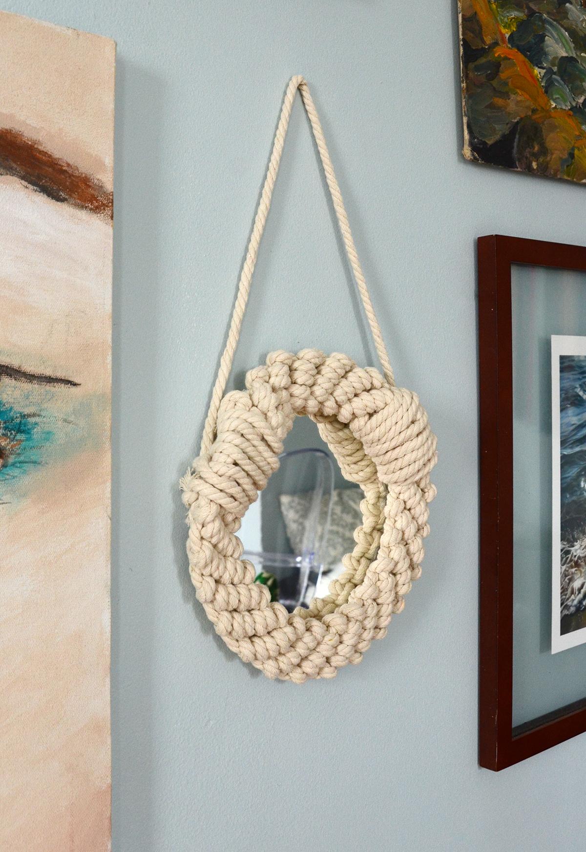 Diy rope mirror 8