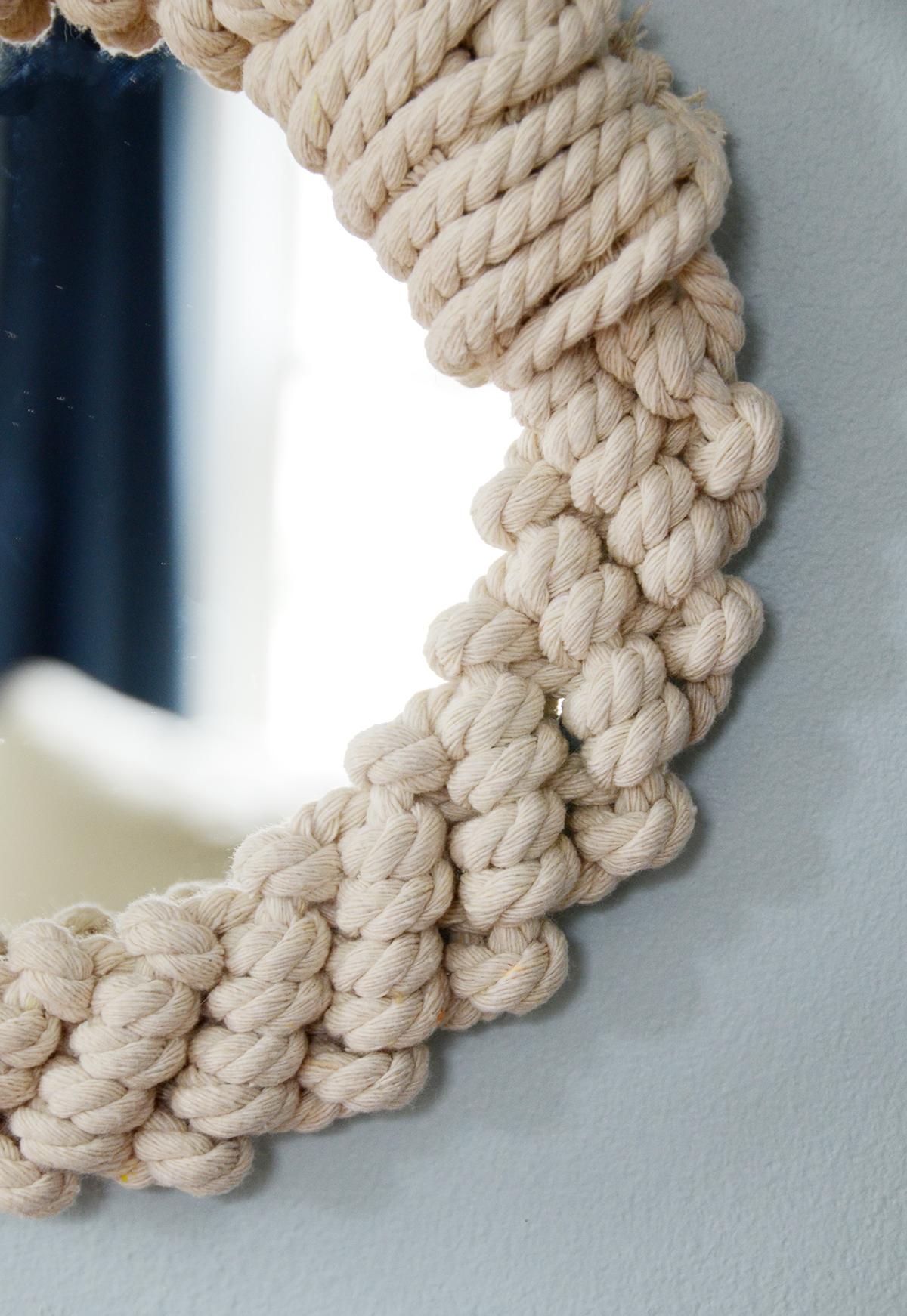 Diy rope mirror 9