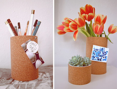 Diy cork containers