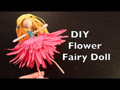 Diy flower fairy doll