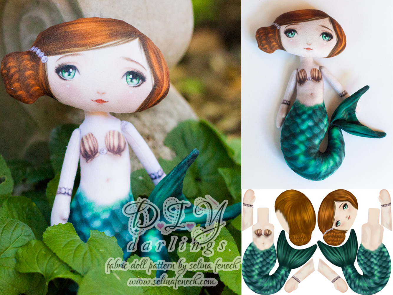 Diy mermaid doll kits