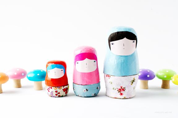 Diy nesting dolls