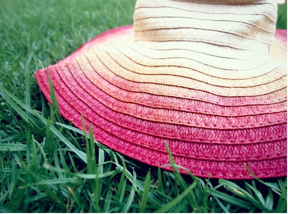 Diy ombre sun hat