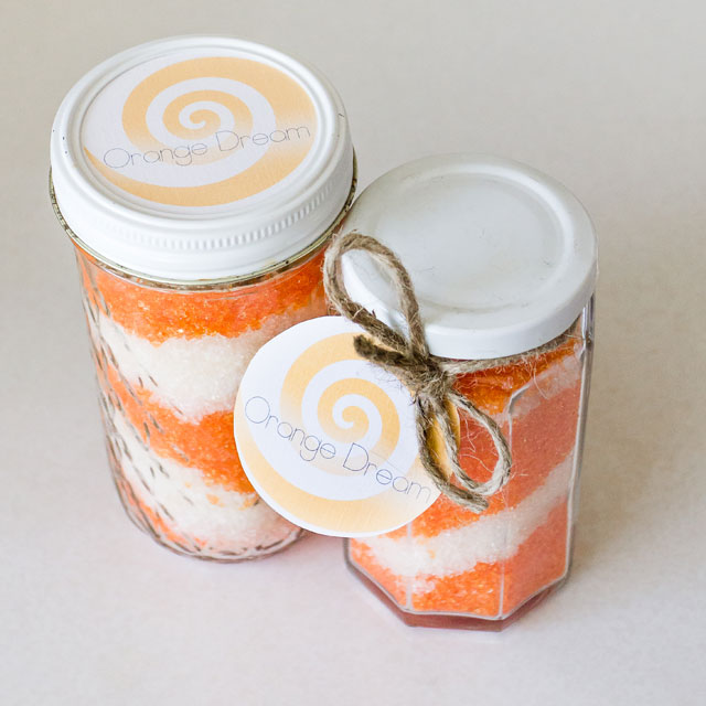 Diy orange dream bath salt