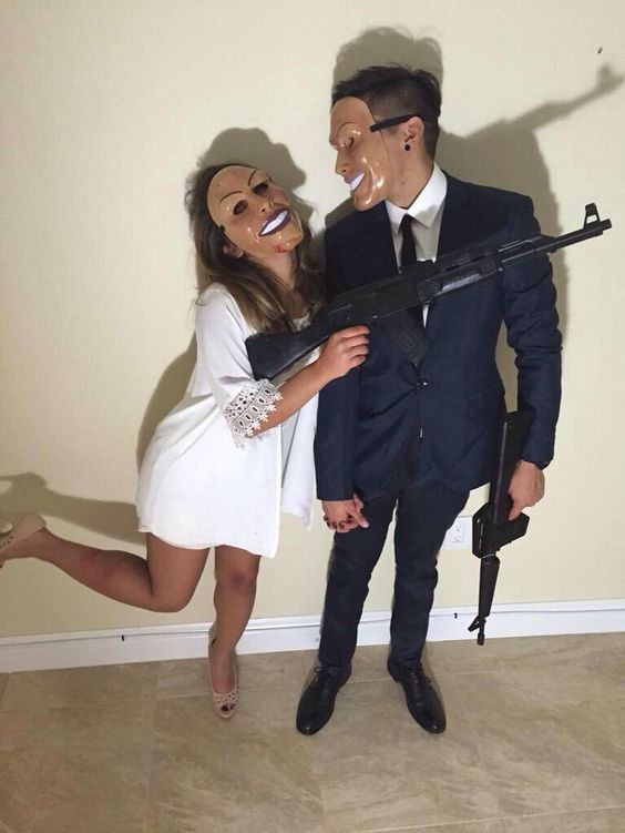 Diy purge couple's costume