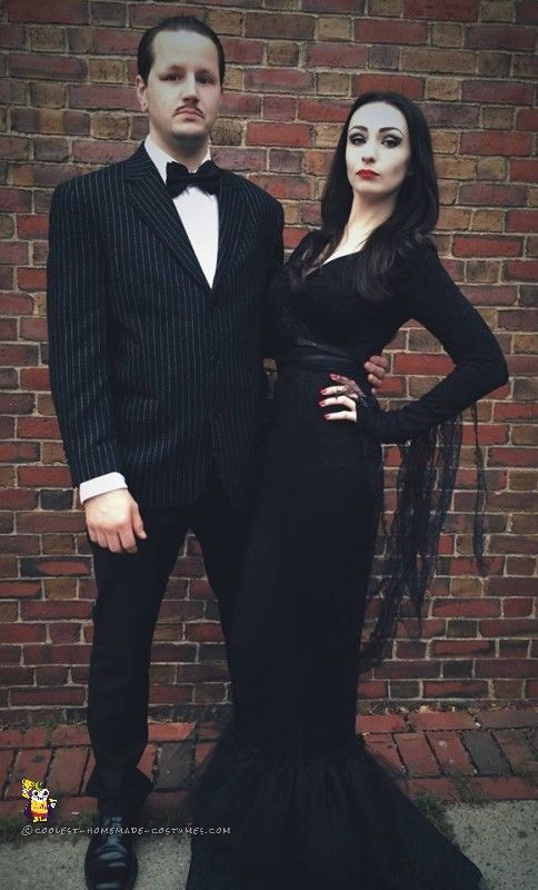 Mortician & Gomez Matching Couple Outfits