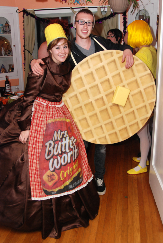Diy waffle and syrup costume