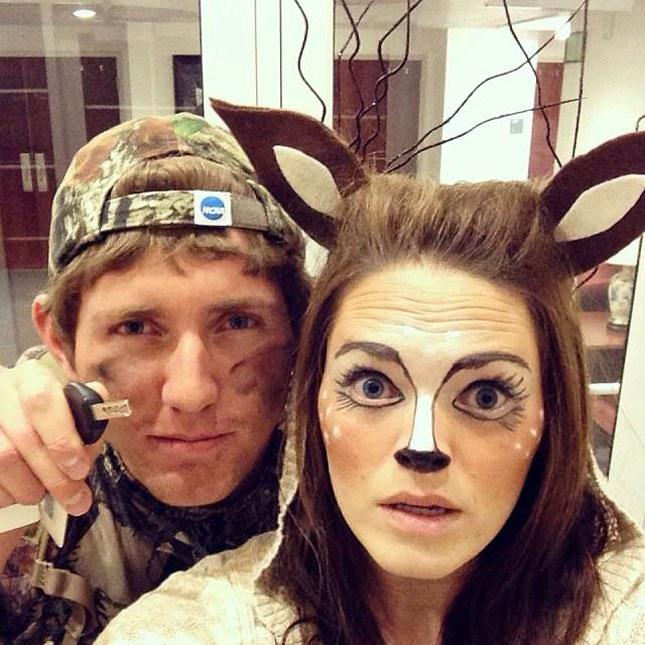 Deer & Hunter Easy Couple Costumes