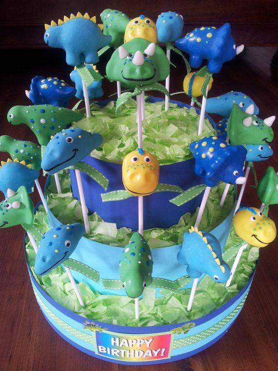 Tiered Dinosaur Birthday Cake