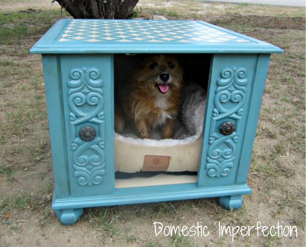 Doggie bed end table