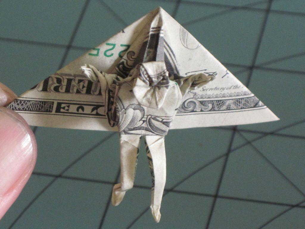 Dollar origami hang glider