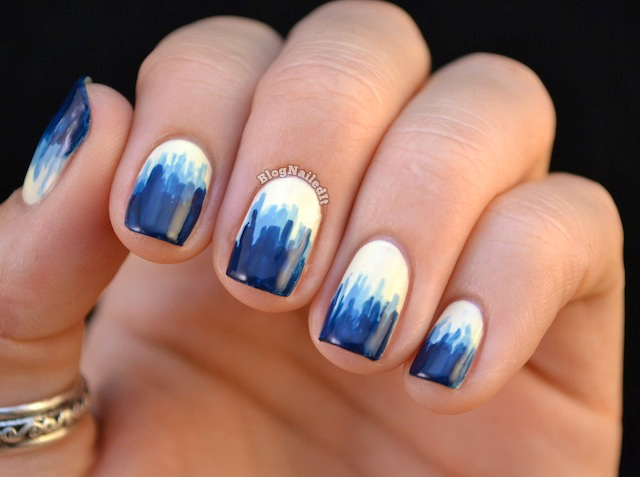 Cute nails to show off your love for blue dripping blue paint prinsesfo Gallery