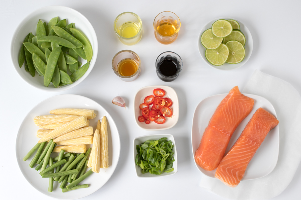 Easy asian baked salmon ingredients