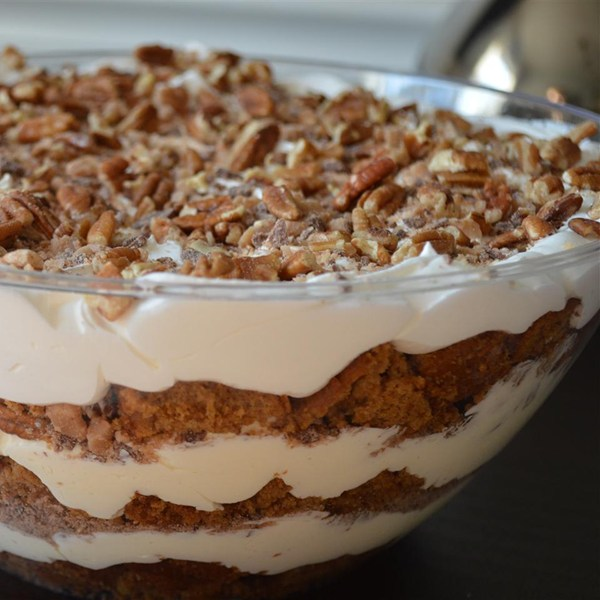 Easy pumpking cream trifle