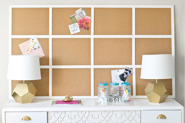 Fframed multi square cork board