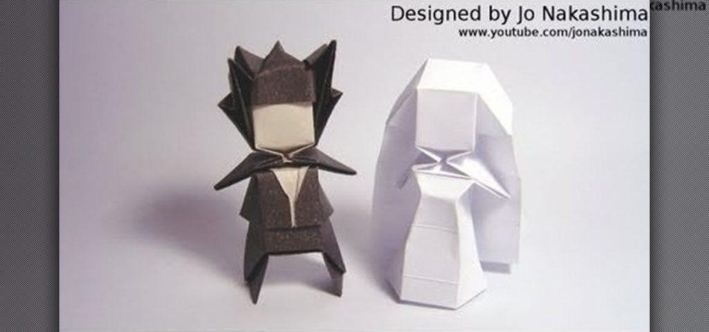 Geometric bride and groom