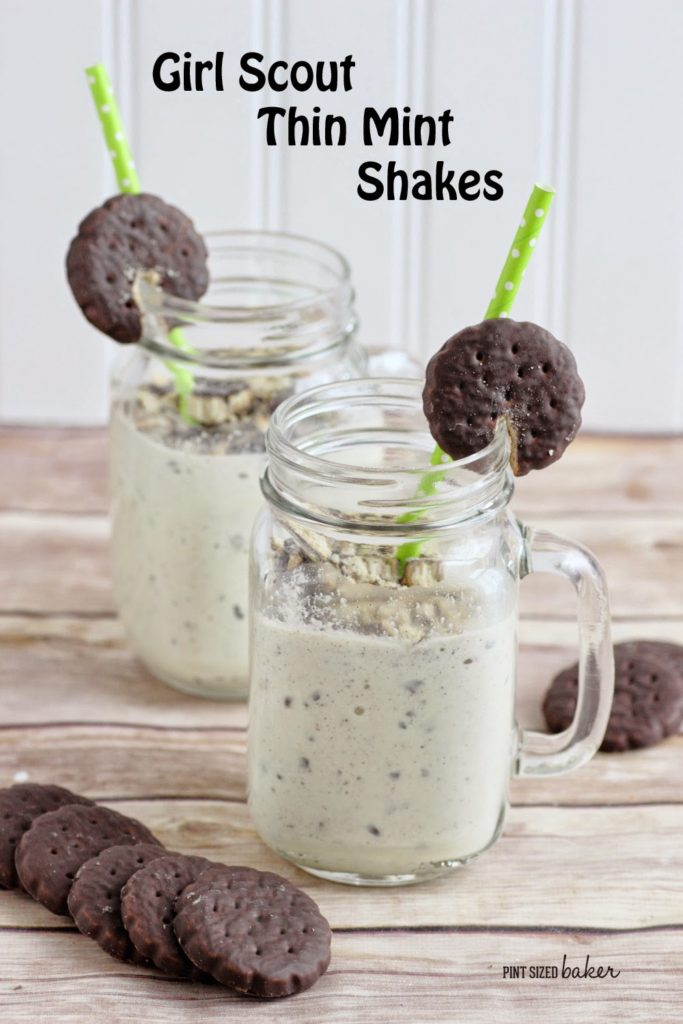 Girl scout think mint milkshake