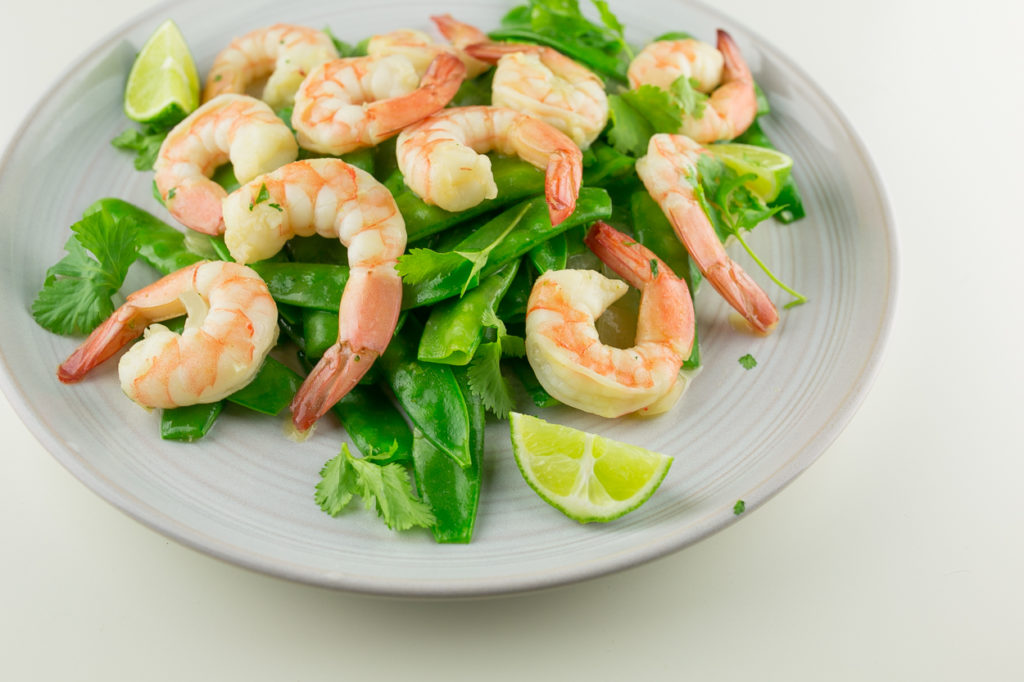 Green curry shrimp stir fry