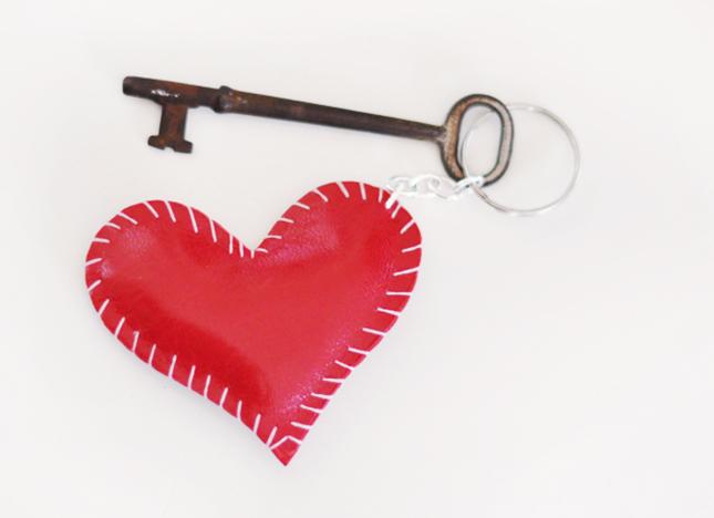 Heart pillow key chain