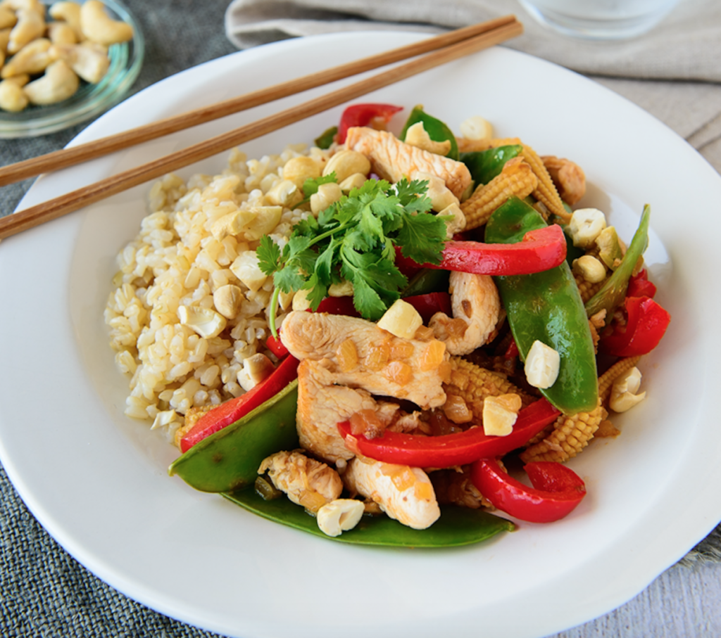Honey lemon ginger chicken stir fry