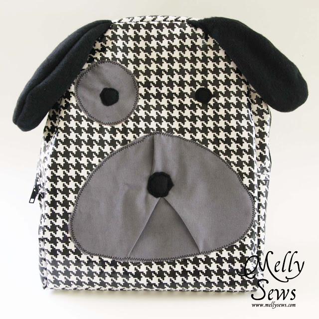 Houndstooth doggy backpack