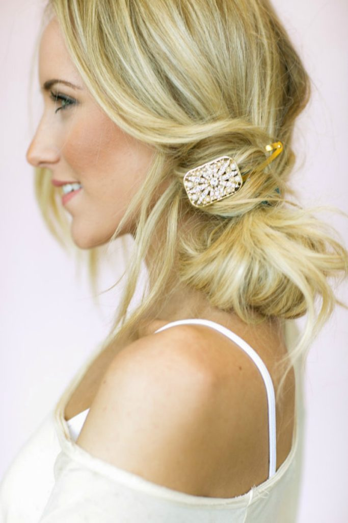 Jeweled deco hair clip