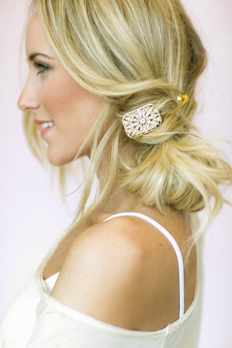 Jeweled deco hair clip