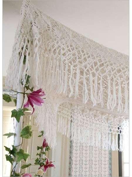 Knitted lace chuppah