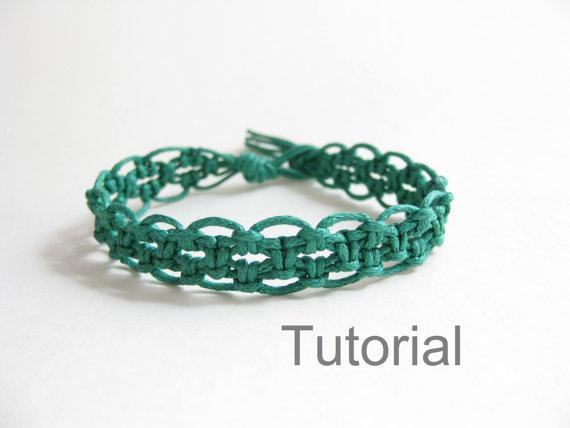 Lacy hemp bracelet