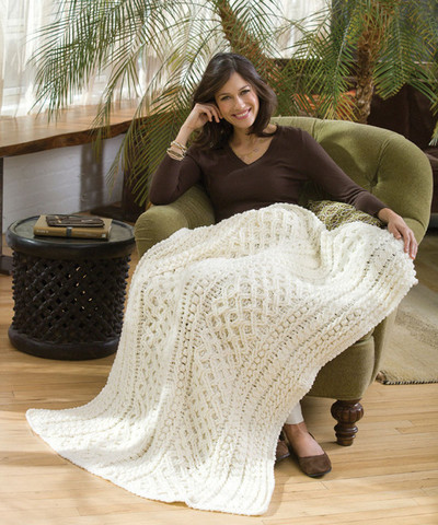 Lattice cable blanket